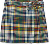 Ralph Lauren 7-16 Pleated Madras Skirt