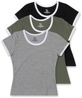 Blis Women's Tee Shirts Black - Olive & Gray Crewneck Tee Set - Women