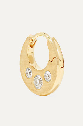 Maria Tash 6.5mm 18-karat Gold Diamond Hoop Earring