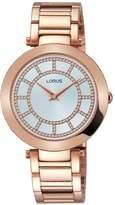 Lorus Womens rose gold dress bracelet watch