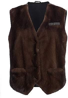 Brunello Cucinelli Women's Mink Fur Monili Vest
