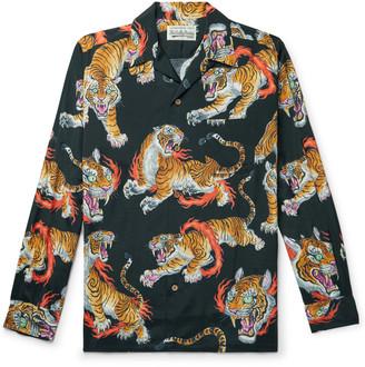 Wacko Maria Tim Lehi Printed Camp-Collar Lyocell Shirt - Men