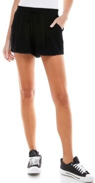 BeBop Juniors' Solid Pom Pom Shorts