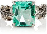 Cathy Waterman Women's Emerald Leafside Ring