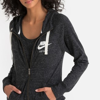 Nike Gym Vintage Zip-Up Cotton Mix Hoodie with Pockets