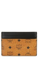 MCM Women's Claus Coated Canvas Card Case - Brown