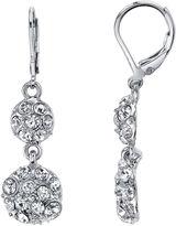 JCPenney 1928 Jewelry Crystal Fireball Double-Drop Earrings