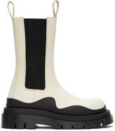 Thumbnail for your product : Bottega Veneta Off-White & Black 'The Tire' Boots