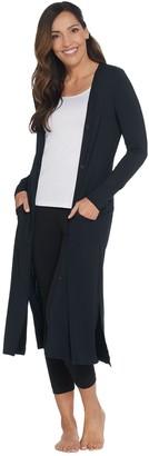 Cuddl Duds Softwear Stretch Maxi Button Front Cardigan