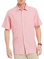 Daniel Cremieux Fineline Short-Sleeve Woven Linen Blend Shirt