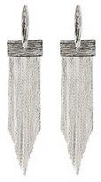 Natasha Silver-Tone Long Fringe Earrings
