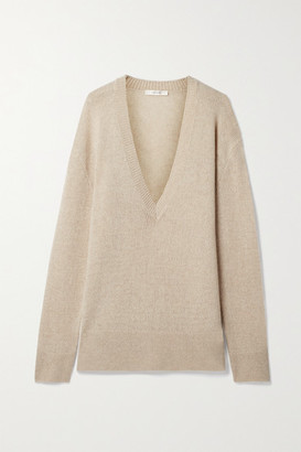 The Row Baudelia Oversized Cashmere Sweater - Beige