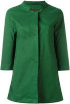 Herno band collar coat - women - Cotton/Polyester/Polyurethane - 40
