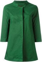 Herno band collar coat - women - Cotton/Polyester/Polyurethane - 46