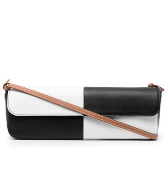 Abra Check-Print Baguette Bag