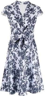 Tadashi Shoji Akira floral jacquard midi dress