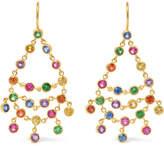Marie Helene De Taillac Marie-Hélène de Taillac - Dancing Emilie 22-karat Gold Multi-stone Earrings - one size