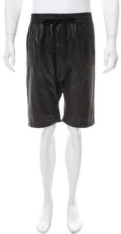 Giorgio Brato Distressed Suede Harem Shorts w/ Tags
