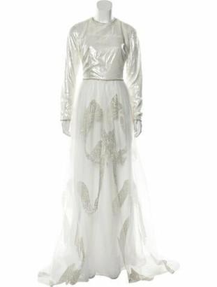 Sandra Mansour 2018 Long Dress White