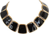 One Kings Lane Vintage Monet Black Enamel Collar, 1972