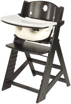 Keekaroo Height Right Highchair with Infant Insert and Tray - Espresso - Espresso Base