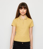 New Look Girls Ribbed Zip Front Polo Shirt