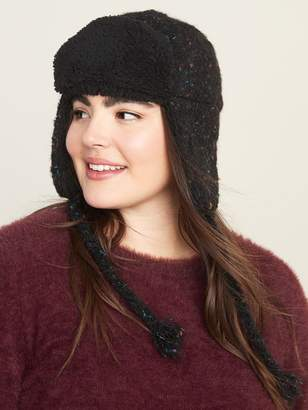 Old Navy Boucle Sherpa-Lined Trapper Hat for Women