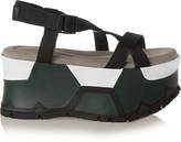 Marni Canvas platform sandals
