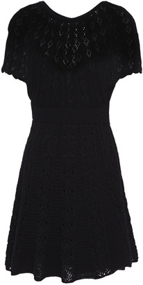 RED Valentino Crochet-knit Cotton-blend Mini Dress
