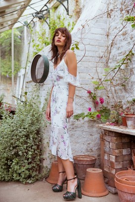 Paper Dolls Hope and Ivy Floral Strappy Midi Dress