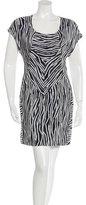 Helmut Lang Abstract Print Silk Dress