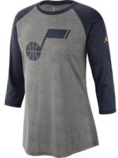 Jordan Utah Jazz Women's Three Quarter Statement Raglan Shirt
