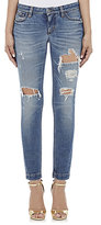 Dolce & Gabbana Women's Distressed Skinny Jeans-BLUE