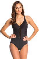 Miraclesuit Solid Ziptress One Piece Swimsuit 8145978