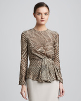 Lafayette 148 New York Cicely Printed Top