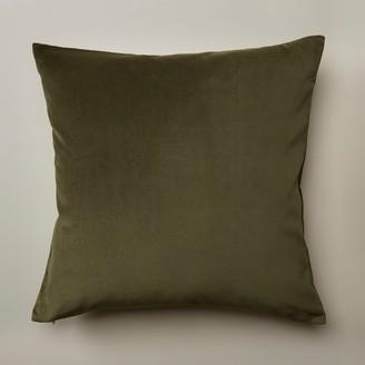 """Oui Velvet Pillow Cover Wild Olive 20"""" X 20"""""""