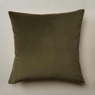 "Oui Velvet Pillow Cover Wild Olive 20"" X 20"""