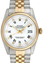 Rolex Vintage Two-Tone Datejust Stainless Steel Watch with Factory Diamonds, 36mm
