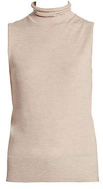 Saks Fifth Avenue Women's COLLECTION Cashmere Turtleneck Shell