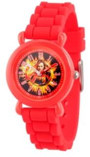 EWatchFactory Girl's Marvel Avengers Endgame Captain Marvel Red Plastic Time Teacher Strap Watch 32mm