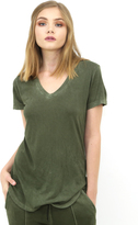 Cotton Citizen Mykonos V Neck Tee in Olive