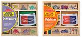 Melissa & Doug Stamp Set Bundle - Dinosaurs & Vehicles