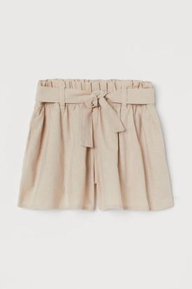 H&M Tie-belt shorts