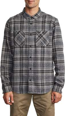 RVCA Mazzy Plaid Button-Up Flannel Shirt