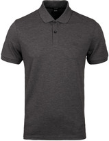 Boss Pallas Grey Marl Pima Pique Polo Shirt