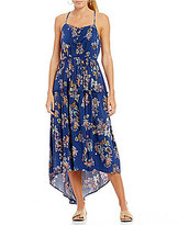 Copper Key Paisley Printed High-Low Dress