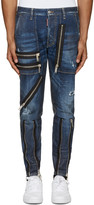 DSQUARED2 Navy Zippered Military Jeans