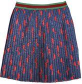 Gucci Bow Silk & Lurex Blend Pleated Skirt
