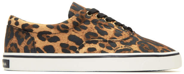 Dolce & Gabbana Brown Leopard Sneakers