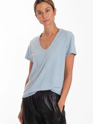 Levete Room - Dusky Blue Any 2 Scoop Neck T Shirt - XL